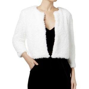 🔥NEW!🔥Calvin Klein White Faux Fur Jacket